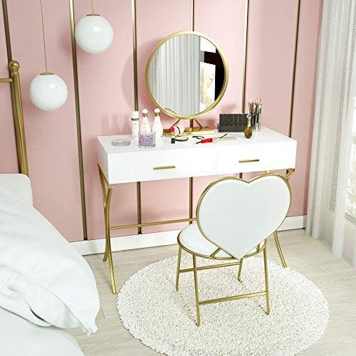 Buy Mecor Vanity Set Mirror Wood Makeup Dressing Table X Shape