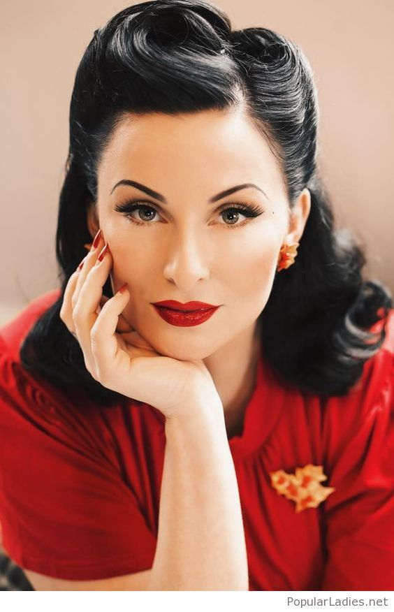Beautiful Retro Look I Love It Retro Hairstyles Rockabilly Hair Vintage Hairstyles