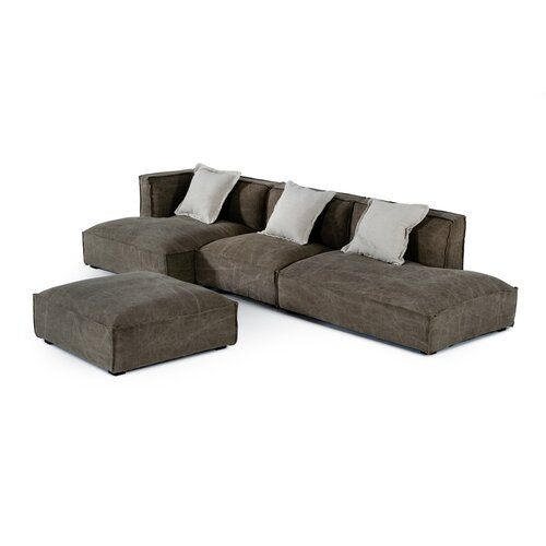 Buy Fife 136 Left Hand Facing Sectional Ottoman Latitude Run Online Topofferclothing In 2020 Sectional Ottoman Sectional Modular Sofa