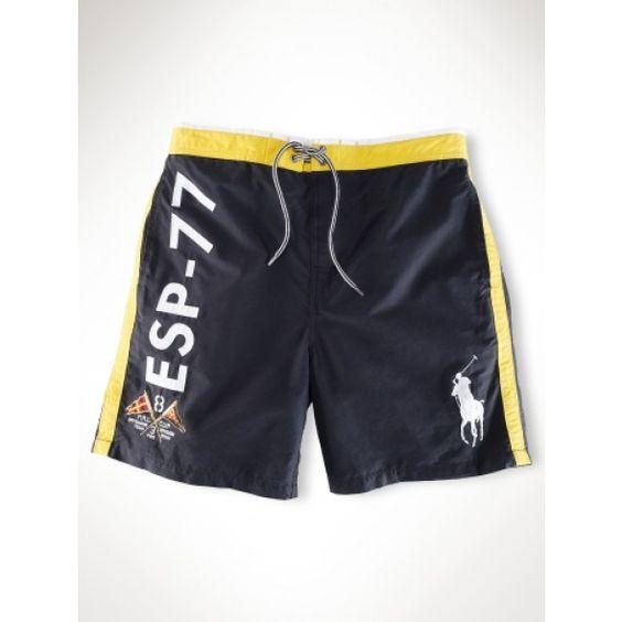 Ralph Lauren Classic ESP-77 Series Black Beach Shorts http://www.
