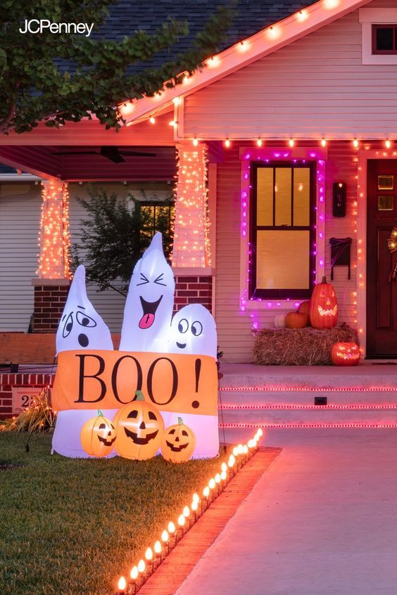 Make Your Halloween Happy With Colorful Lights And Spooky Fun Yard Decorations Shop Jcpenney S As Holiday Decor