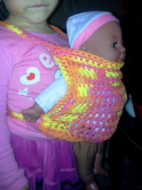 Free Crochet Pattern Baby Carrier : StormFly Crafts: Crochet Baby Doll Carrier Crafts ...