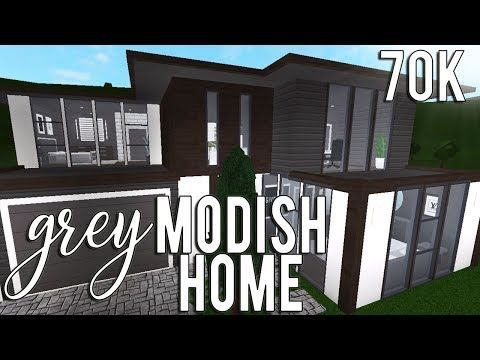 Roblox Welcome To Bloxburg Grey Modish Home 70k Youtube With