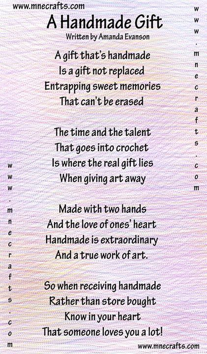 a nice poem about handmade gifts