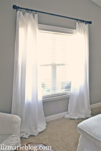 Curtains Ideas bed bath and beyond drapes and curtains : DIY Floor Length Curtains - | Living room curtains, Long living ...