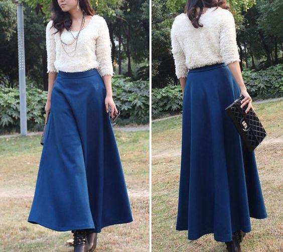Long Aline Skirt