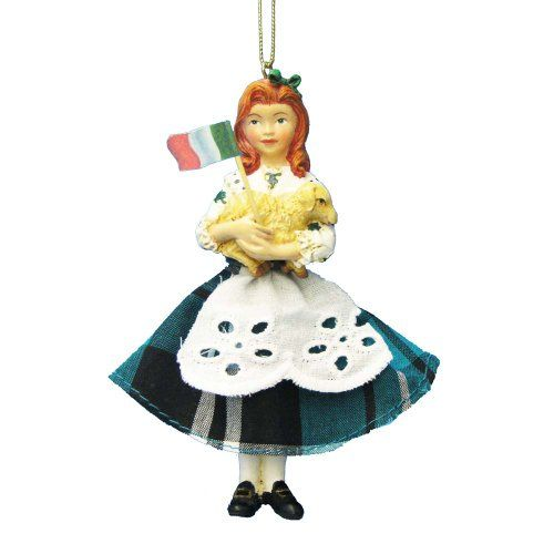 Kurt Adler Resin Irish Girl Ornament, 4.5-Inch. #Christmas #NewYear #Ornament #Decor #giftidea #Gift #gosstudio .★ We recommend Gift Shop: http://www.zazzle.com/vintagestylestudio ★