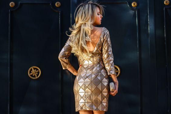 Marina Casemiro, look da noite, vestido dourado, manga longa, detalhe decote costas, clutch, salto nude, festa, party, noite, amarena, ribeirão preto, fashion blogger -12