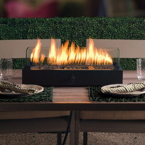 "Two Harbors 28"" Rectangle Tabletop Fire Pit - Black - Project 62™ : Target 
