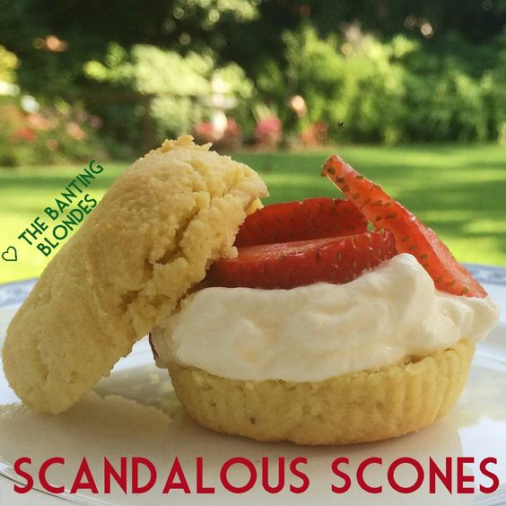 Grain-free scones made using almond flour. Yummy and low carb!