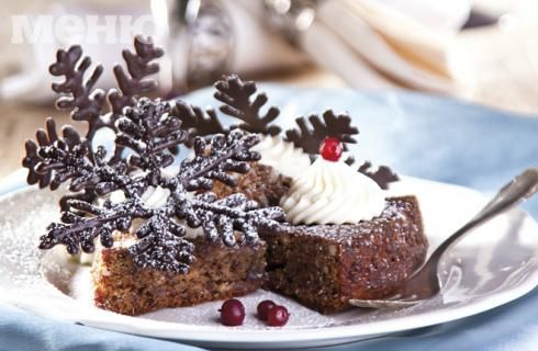 Тофи сладкиш с шоколадови снежинки