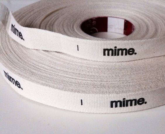 200 yards of custom printed woven ribbon, custom printed cloth labels on Etsy, $197.93 AUD