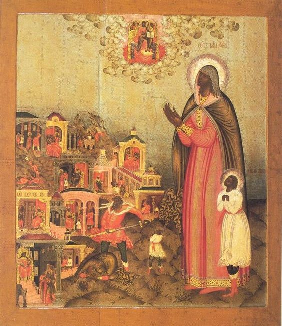 Icon of St. Quiricus and St. Juliet by Gury Nikitin