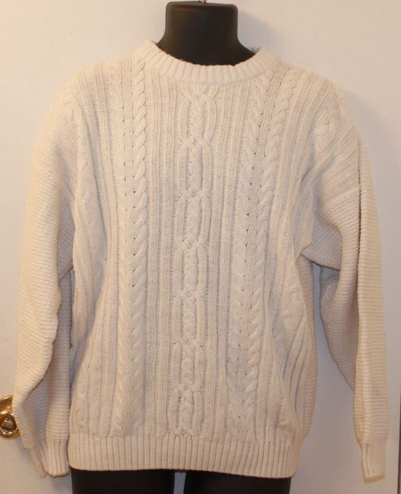 Etchings Men's Crewneck Ski Sweater WoolBlend Beige Size Medium #Etchings #Crewneck