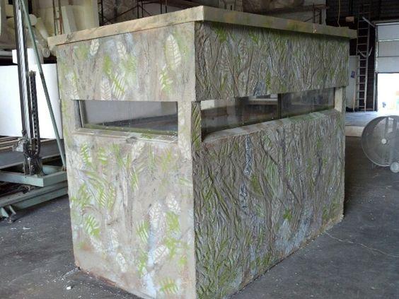 Custom Deer Blind Made From Hand Carved Eps Foam Panels