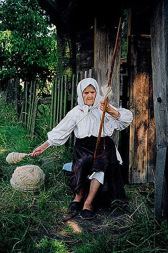 All sizes | Romenia / old woman yarn spinning | Flickr - Photo Sharing!
