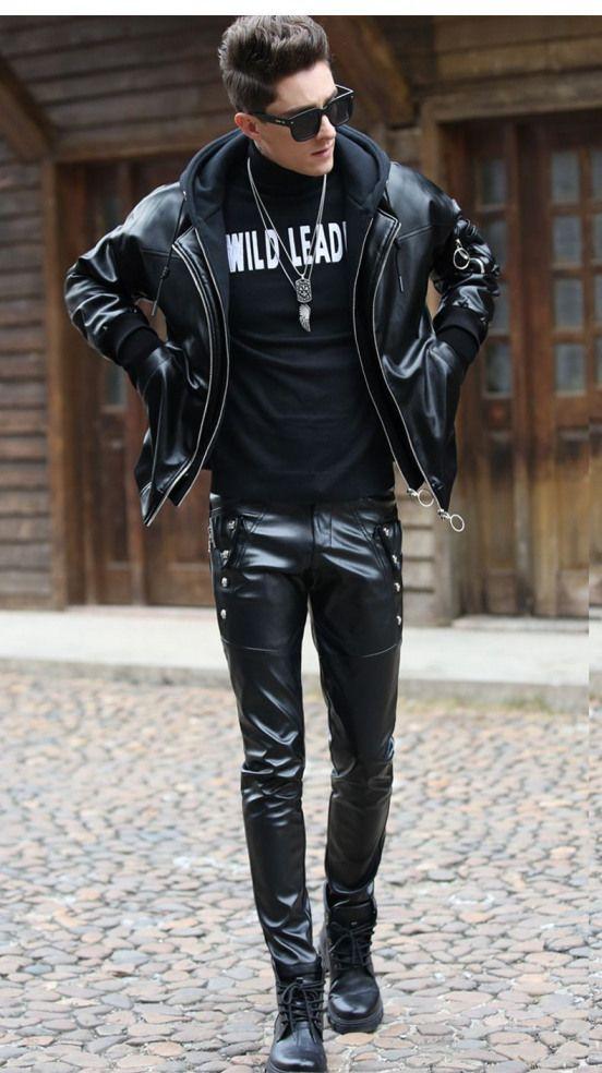 Men Spants Men S Pants Leather Leather Jacket Men Mens Leather Pants Mens Leather Clothing