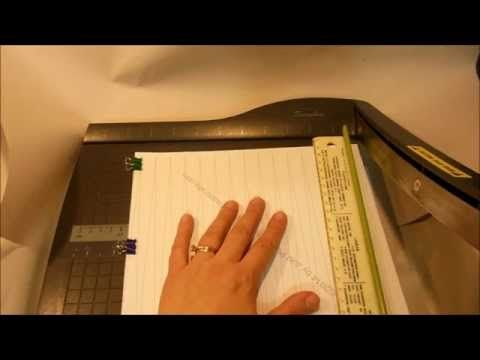 How To Cut Paper Bead Sheets - YouTube