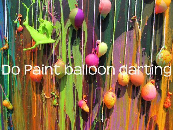 julie: water balloon dart painting! #Humor