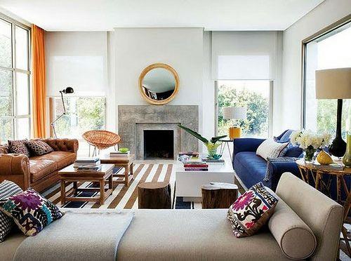 Eclectic living room.: