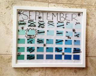 {f}ive times the fun: Paint Swatch Calendar