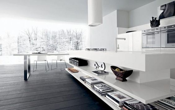 Weiße Kücheninsel Lucrezia Moderne Küche Cesar Einrichtung   Moderne Kuche  Lucrezia Design Bilder