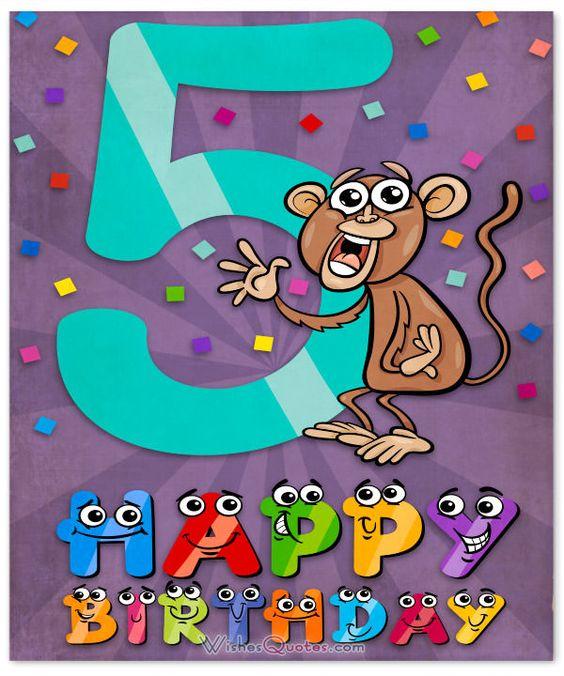 Happy 5th Birthday Wishes For 5 Year Old Boy Or Girl Birthday