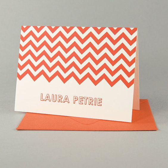 I would write more thank you notes if I had adorable chevron stationary!