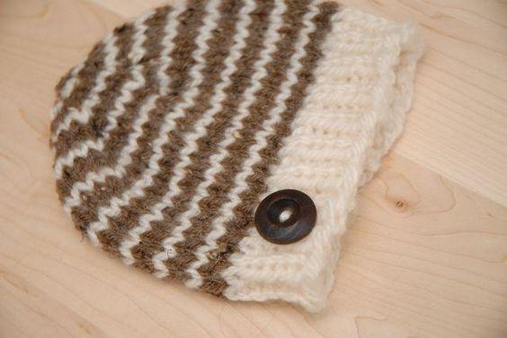 Gestreiftes Baby Mütze stricken mit von melissanagyDESIGNS auf Etsy
