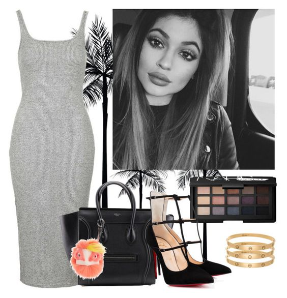 """Summer Kylie"" by juliapharris97 ❤ liked on Polyvore featuring Topshop, Fendi and NARS Cosmetics"