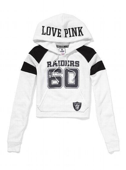 Oakland Raiders Shrunken Pullover Hoodie - Victoria's Secret PINK® - Victoria's Secret