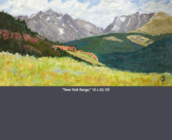 """New York Range"" 10 x 20 Oil, Linda Petrie Bunch"