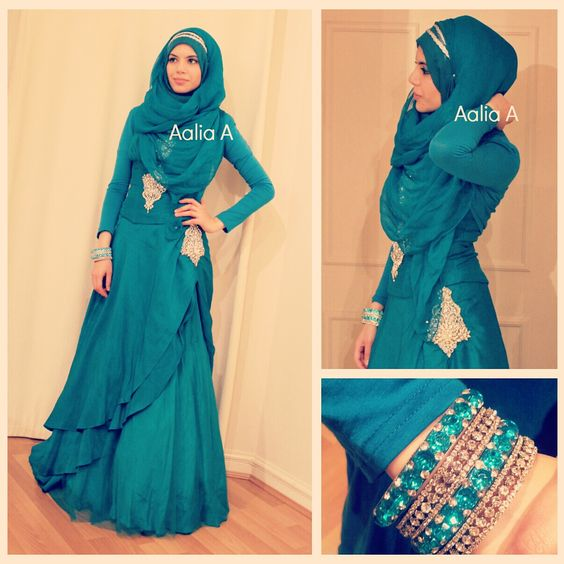 Aalia A (from Princess Rockz) Eid outfit ❤ hijab style