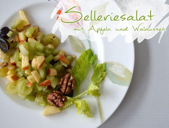 Selleriesalat mit Äpfeln und Walnüssen - www.himmelsblau.org http://himmelsblau.org/wordpress/?p=10314