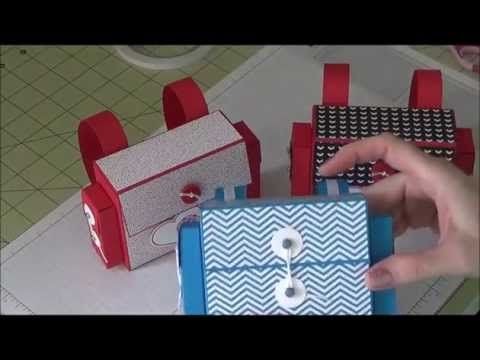 Stampin Up! - Backpack Style Treat Box - YouTube