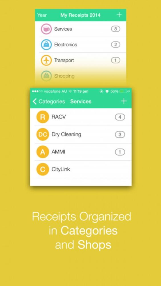 Receipts Collector iPhone App Scans, Stores And Organizes Receipts - money receipts