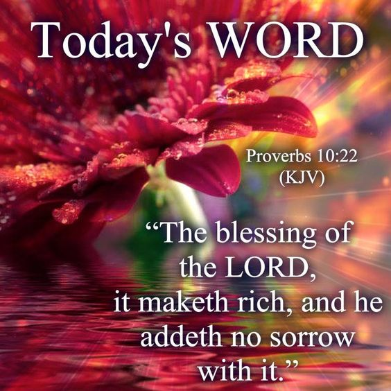 Today's Word: Proverbs 10:22