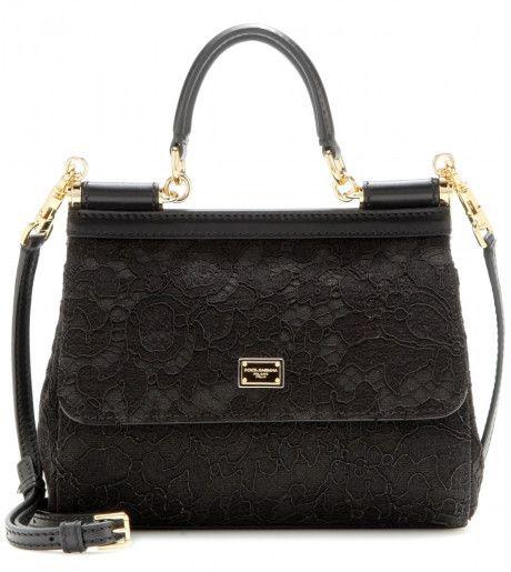 Love this: DOLCE & GABBANA Black Mini Miss Sicily Lace Shoulder Bag @Lyst