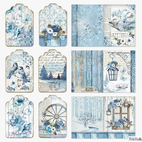 12x12 Paper Pad Blue Land 10 Double Sided Sheets By Stamperia For Scrapbooks Cards Crafting Vintage Paper Paper Pads Scrapbook Designs