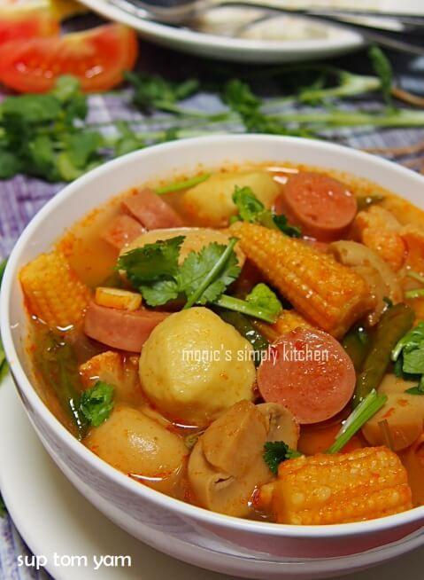 Sup Tom Yam Simple Resep Masakan Makanan Resep Masakan Indonesia