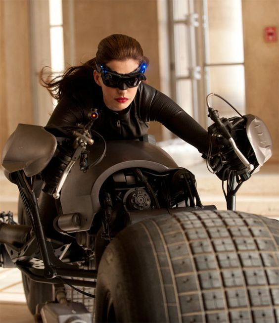 What's a board about Anne Hathaway's fashion influence without her sweet getup in The Dark Knight Rises? #hip