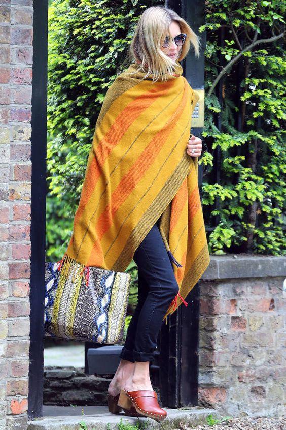 Kate Moss Blanket Coat - Kate Moss Style - Harper's BAZAAR Magazine