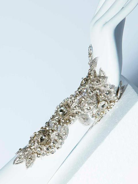 YolanCris | Wedding dresses and red carpet dresses Haute Couture | Beaded & Embellished Statement Bridal Bracelet^^^^