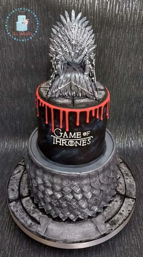 Two Tiered Game Of Thrones Cake Bottom Tier Is Chocolate Orange And Top Tier Is Va Game Of Thrones Cake Game Of Thrones Birthday Cake Game Of Thrones Birthday