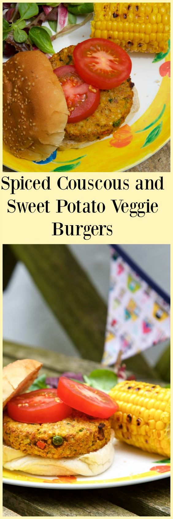 Spiced Couscous and Sweet Potato Veggie Burgers - easy to make using frozen foods from Iceland #poweroffrozen