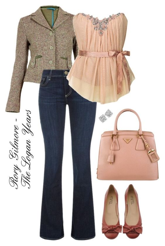 Rory Gilmore - The Logan Years by stargazer27 on Polyvore featuring polyvore fashion style True Religion Prada