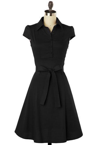 The perfect little black dress.  A-line is the way to go.  A great style for any occasion.