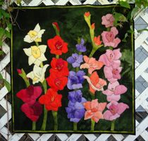 woolylady: Wool Quilts Applique, Wool Applique Stitches, Felted Wool Applique, Applique Gladiolas, Wool Applique Patterns, Applique Project
