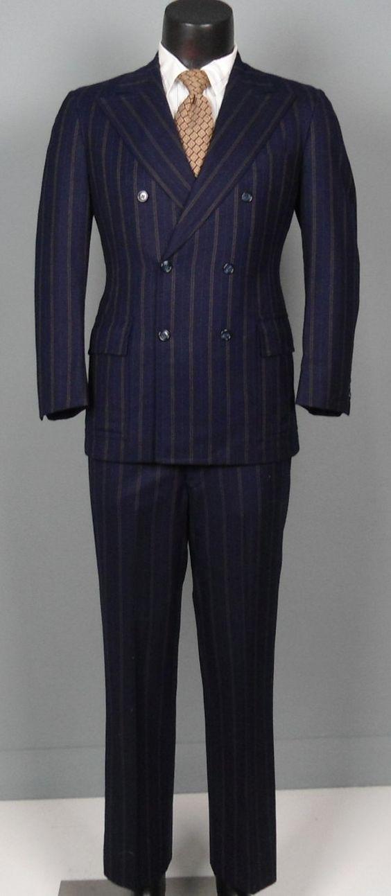 1960s Mens Colorful Suits Vintage mens suits 1960s double pinstripe ...