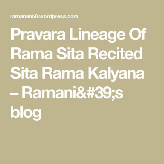 Pravara lineage of rama sita recited sita rama kalyana fandeluxe Image collections